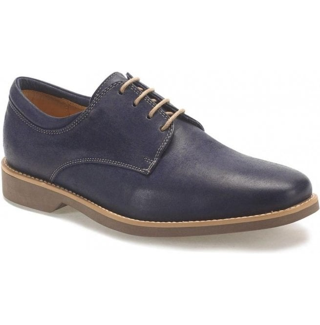 Anatomic Gel Mens Delta Vintage Navy Leather Derby Shoes