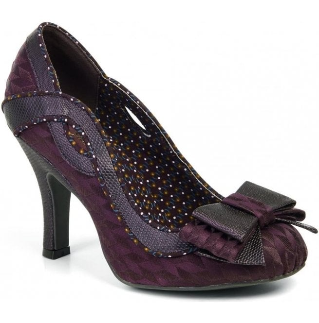 Ruby Shoo Womens Ivy Burgundy Slip On Court Shoes 09123