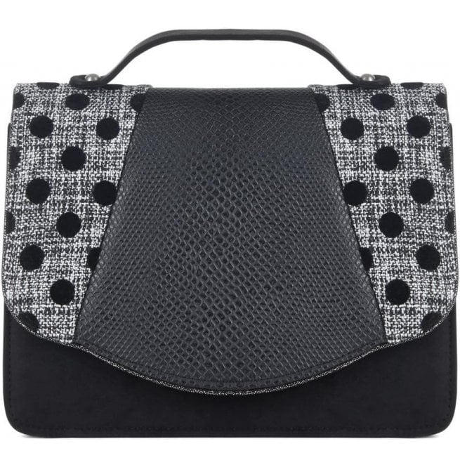 Ruby Shoo Womens Belfast Black Spots Clutch Handbag 50090