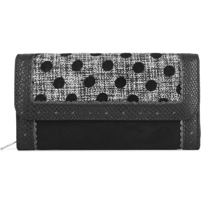 Ruby Shoo Womens Ontario Black Spots Purse 50108