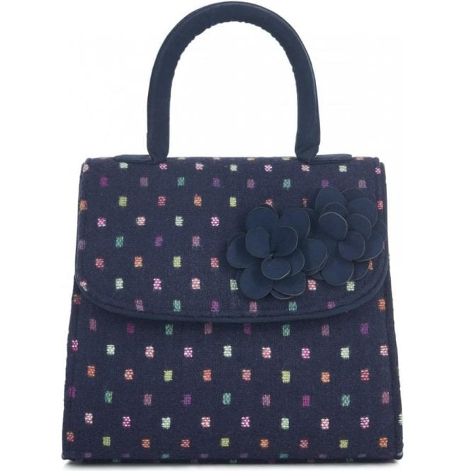 Ruby Shoo Womens Kingston Navy Multi Structured Handbag 50096