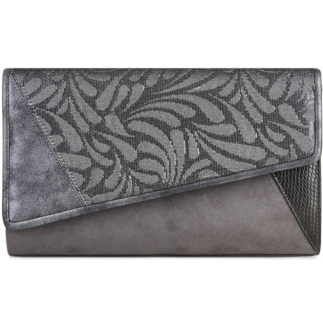 Ruby Shoo Womens Memphis Pewter Clutch Handbag 50100