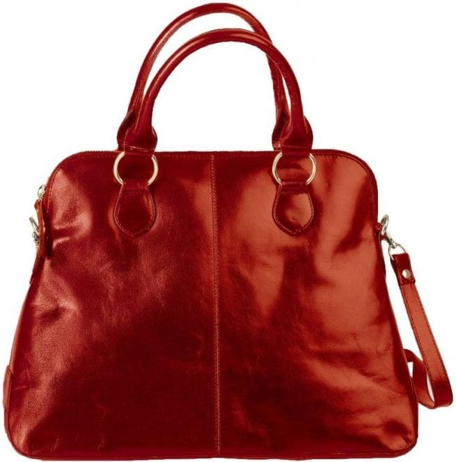 Bolla Bags Womens Alessa Red Leather Handbag