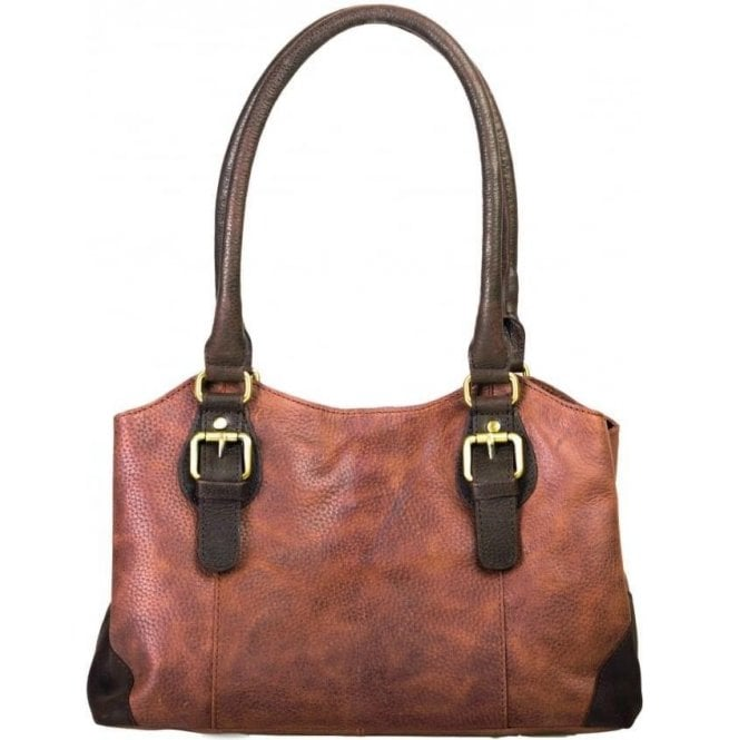 Bolla Bags Womens Emily Oak Leather Handbag
