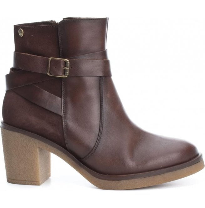 Carmela Womens Botin Brown Leather Ankle Boots 65828