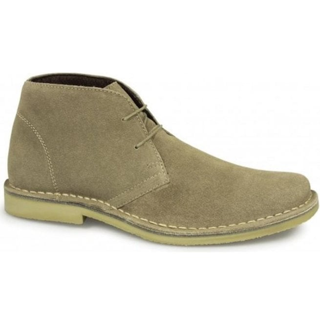 Roamers Mens Mod Sand Leather Desert Boots M420BS