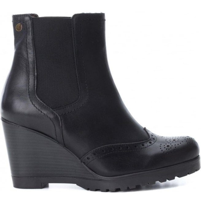 Carmela Womens Botin Black Leather Ankle Boots 65881