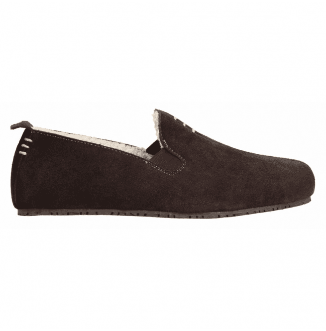 Clarks Mens Kite Falcon Brown Suede Slippers