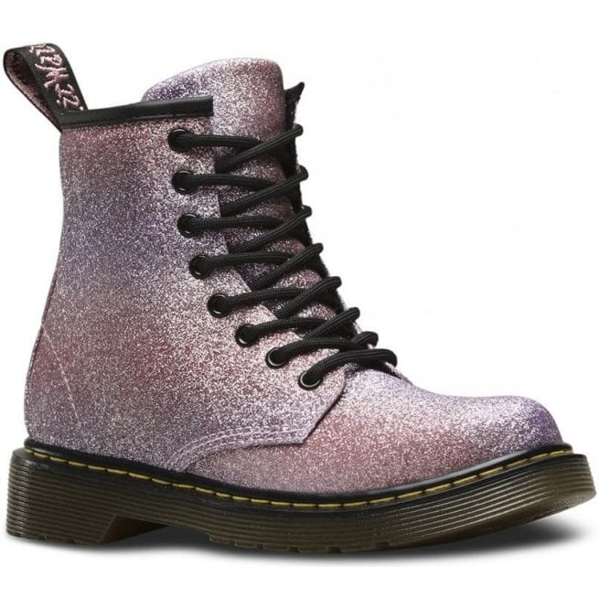 Dr Martens - Kids Delaney Pink Multi Glitter Junior Boots 22985689