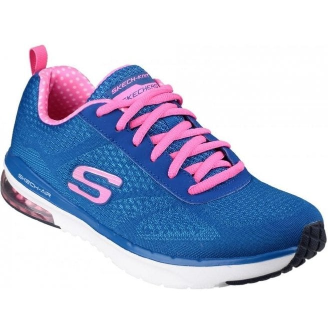 Skechers Womens Blue/Pink Skech Air Infinity Lace-Up Shoes SK12111
