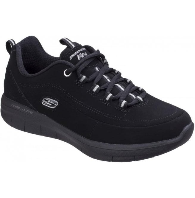 Skechers Womens Black Synergy 2.0 - Side Step Shoes SK12364
