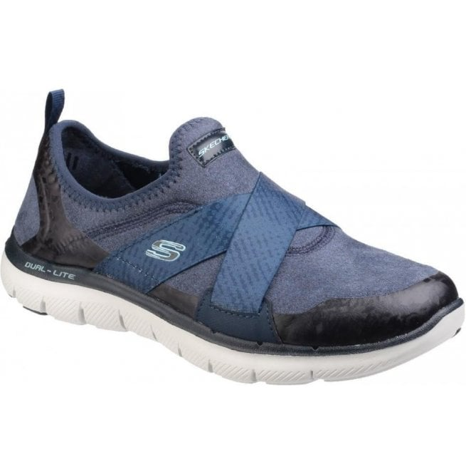 Skechers Womens Navy Flex Appeal 2.0 - Bright Eyed Shoes SK12619