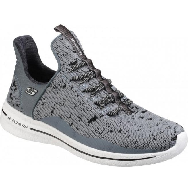 Skechers Womens Charcoal/Black Burst 2.0 - New Adventures Lace-Up Shoes SK12656
