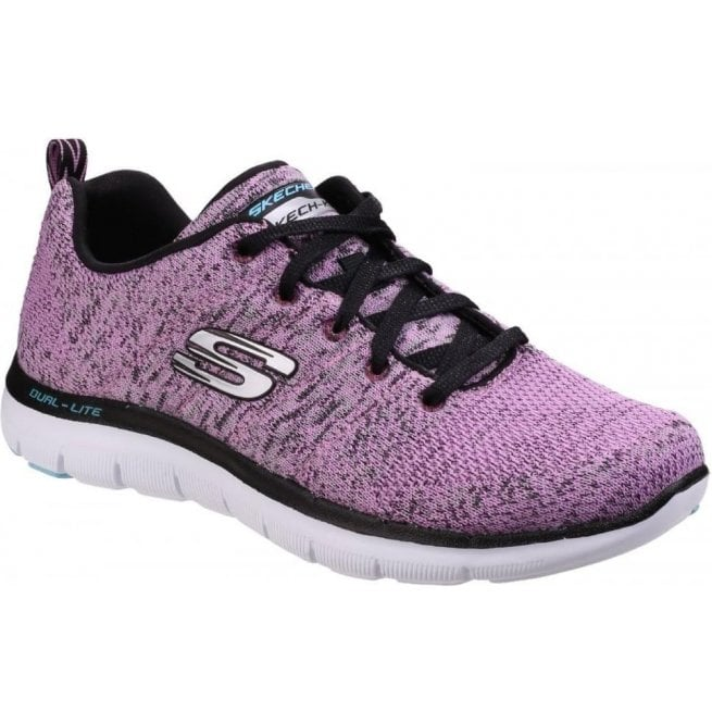 Skechers Womens Lavender Flex Appeal 2.0 - High Energy Shoes SK12756