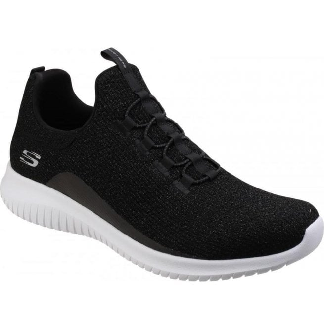 Skechers Womens Black Ultra Flex Slip-On Shoes SK12830