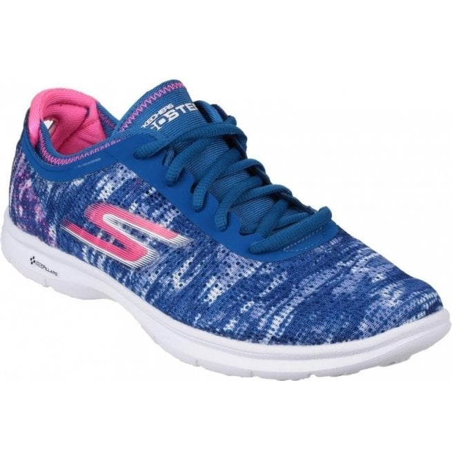 Skechers Womens Blue/Pink Go Step Walking Shoes SK14200
