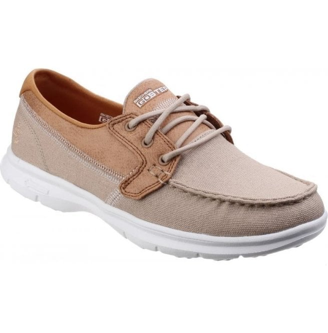 Skechers Womens Natural Go Step - Seashore Moccasin Walking Shoes SK14416