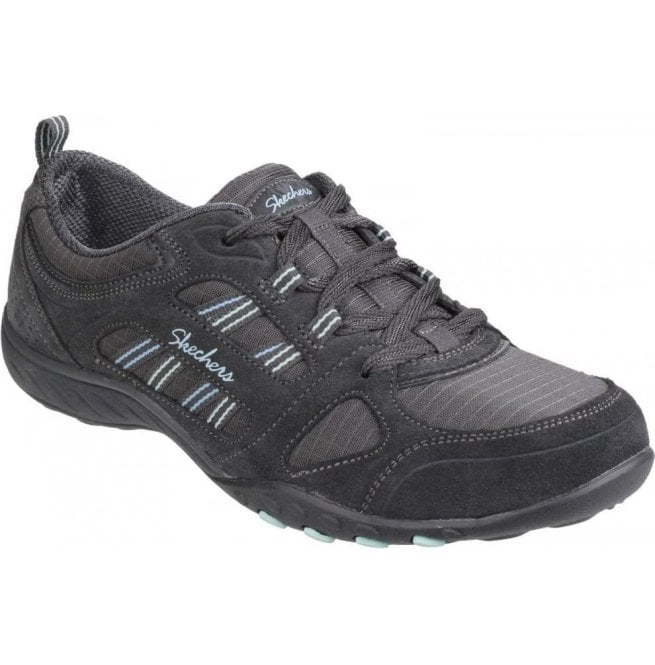 Womens Charcoal Active Breathe Easy - Good Luck Lace Up Trainers SK22544