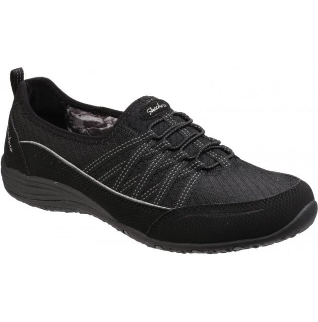 Skechers Womens Black Unity Go Big Lace Up Trainers SK23055