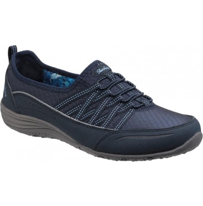 Skechers Womens Navy Unity Go Big Lace Up Trainers SK23055