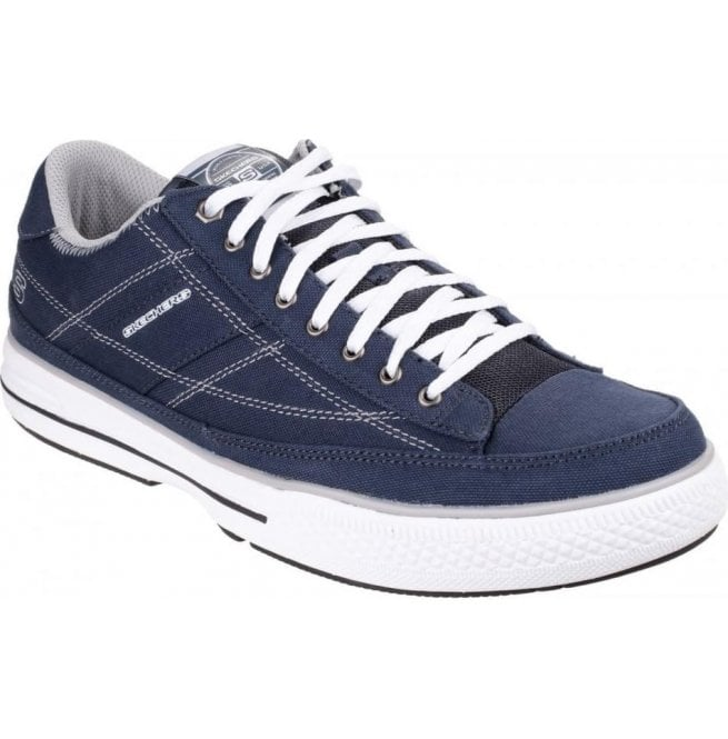 Skechers Mens Navy/White Arcade Chat Memory Lace Up Trainers SK15014