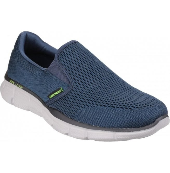 Skechers Mens Navy Equalizer - Double Play Slip On Trainers 51509