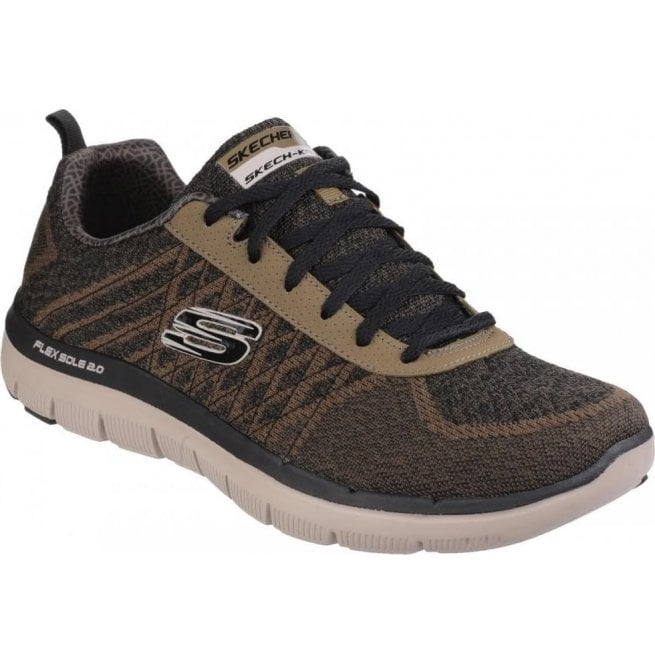 Skechers Mens Olive Flex Advantage - 2.0 Golden Point Lace Up Trainers SK52182