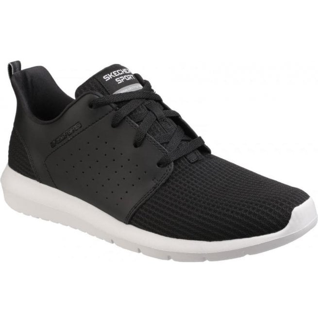 Skechers Mens Black/White Foreflex Lace Up Trainers SK52390