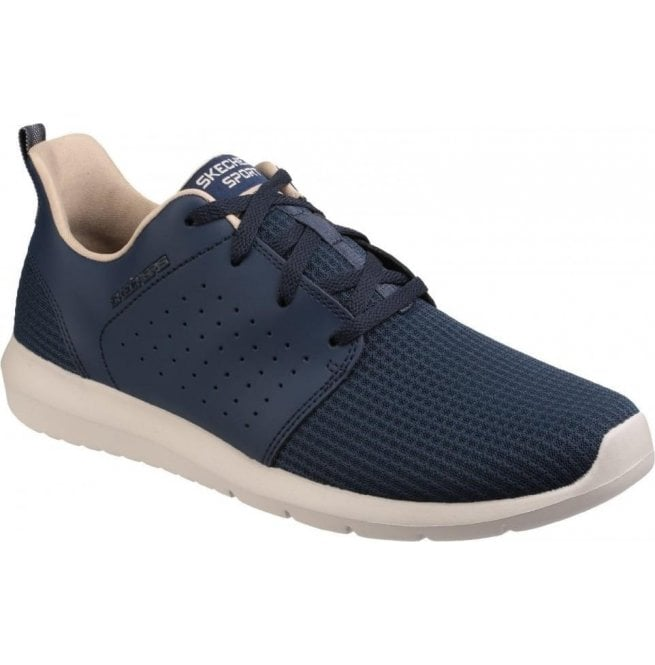 Skechers Mens Navy Foreflex Lace Up Trainers SK52390