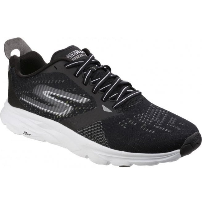 Skechers Mens Black/White Go Run - Ride 6 Lace Up Trainers SK54117
