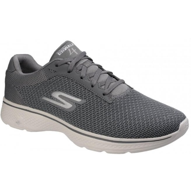 Skechers Mens Charcoal Go Walk 4 - Noble Slip On Walking Shoes SK54156