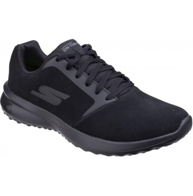 Skechers Mens Black On The Go City 3.0 - Delux Lace Up Trainers SK55310