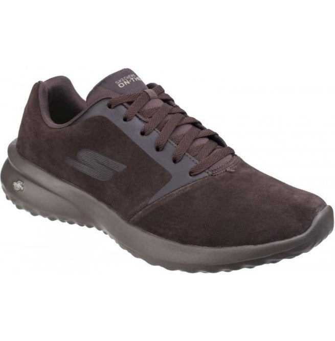 Skechers Mens Chocolate On The Go City 3.0 - Delux Lace Up Trainers SK55310