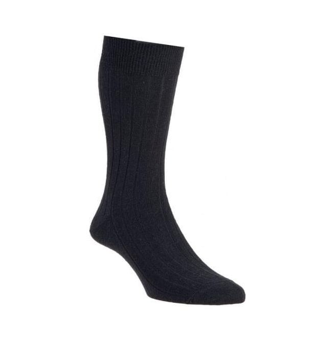 HJ Hall Mens Two Pair Pack Broad Wool Rich Socks