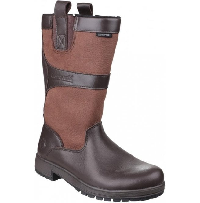 Cotswold Womens Ascot Walnut Waterproof Pull on Wellington Boots