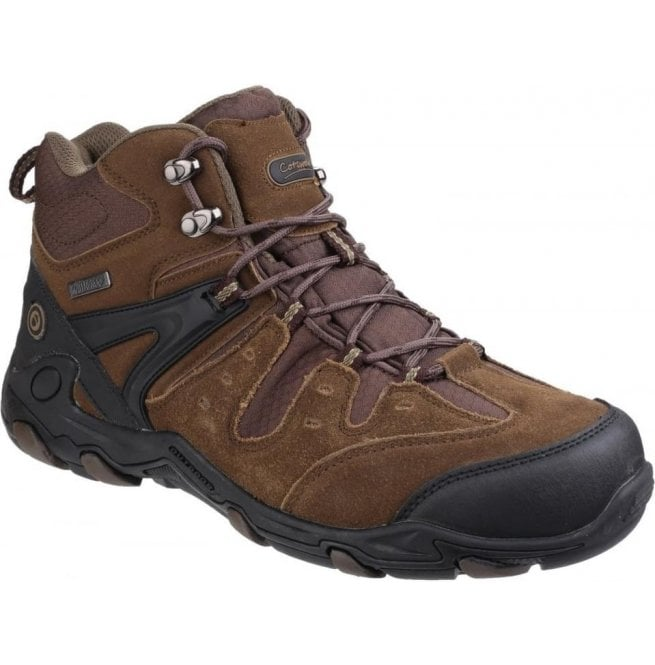 Cotswold Mens Coberley Olive/Brown Waterproof Lace up Hiking Boots