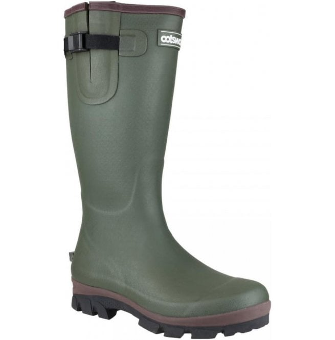 Cotswold Mens Grange Green Buckle Fastening Wellington Boots