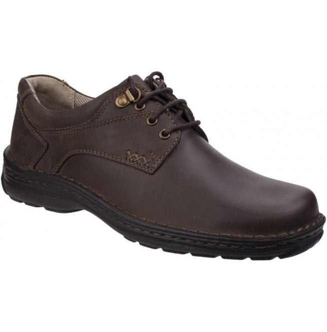 Hush Puppies Mens Geography Brown Casual Lace-Up Shoes