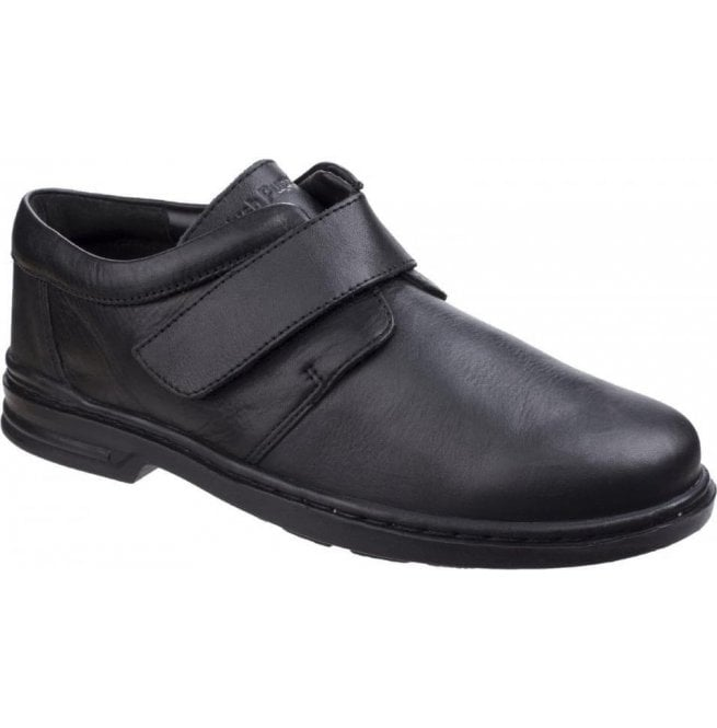 Hush Puppies Mens Jeremy Hanston Black Formal Shoes