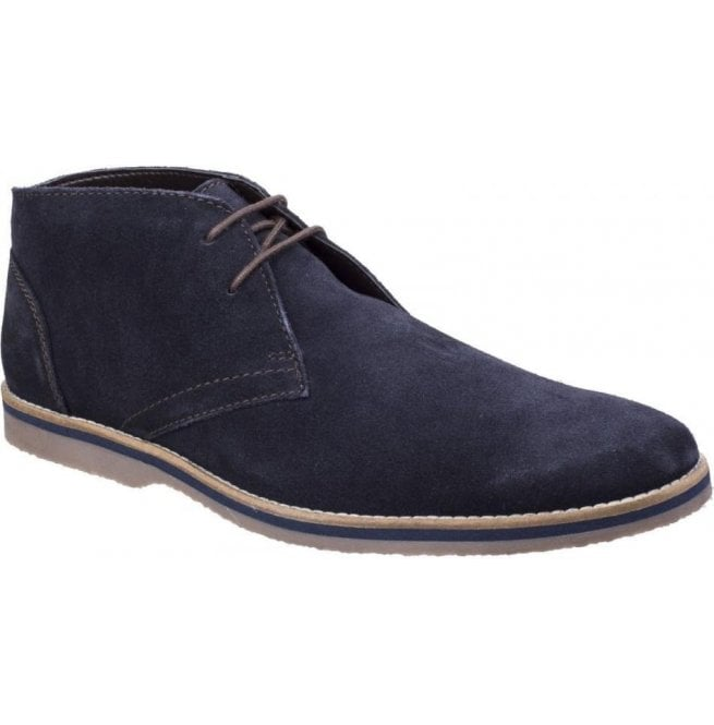 Hush Puppies Mens Spencer Navy Suede Chukka Boots