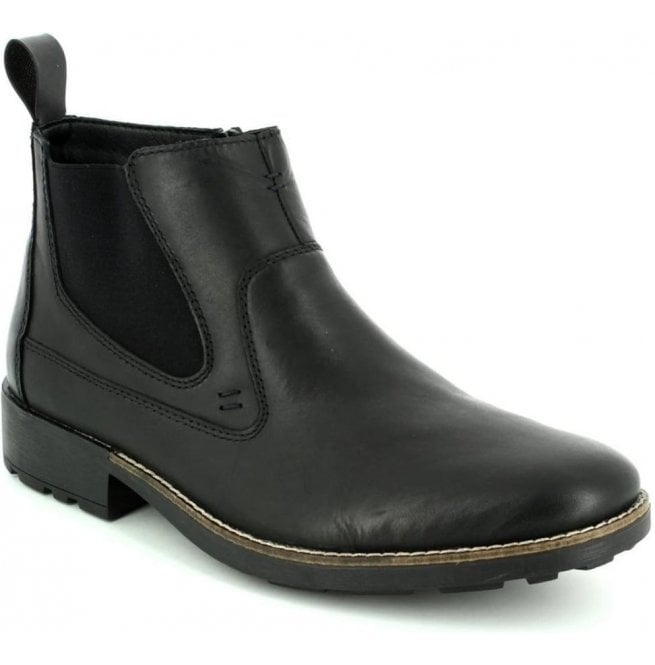 Rieker Mens Ramon Black Leather Chelsea Boots 36062-00