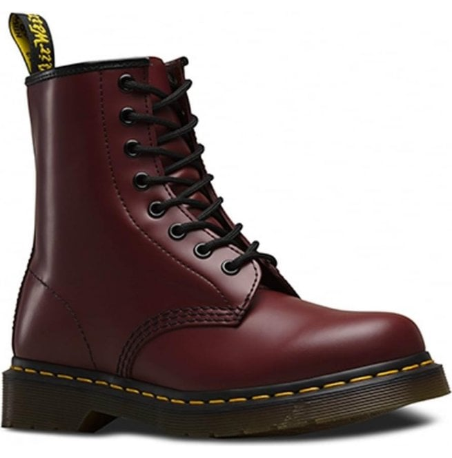Dr Martens Unisex Classic 8 Eyelet Cherry Boots 11822600