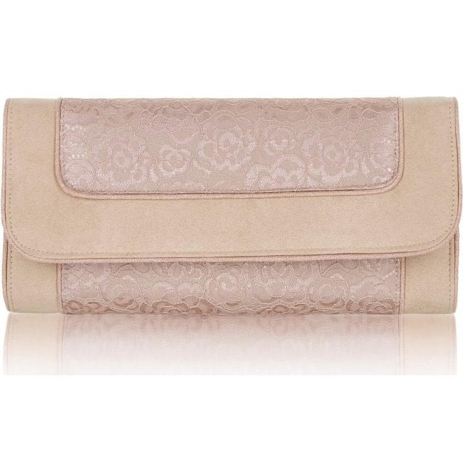 Ruby Shoo Womens Charleston Rose Clutch Handbag 50112