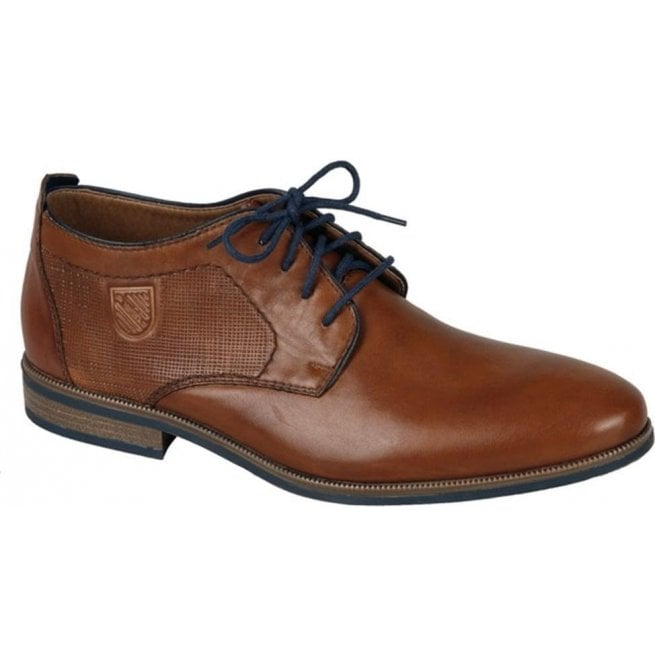 Rieker - Mens Ramon Brown Leather Lace Up Formal Shoes 11623-24