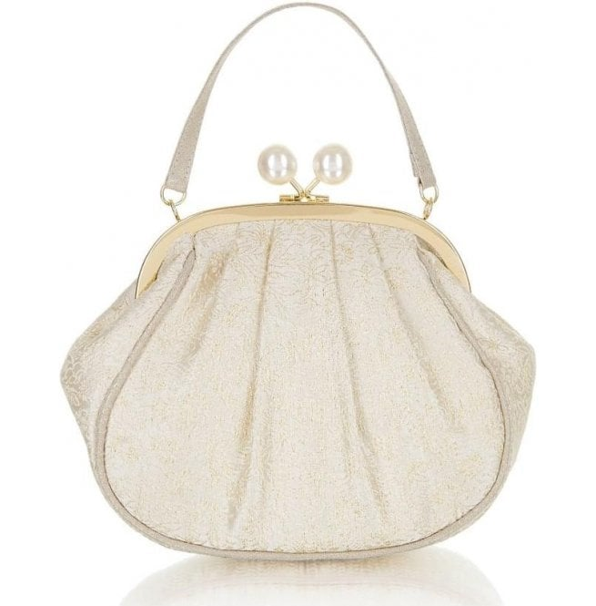 Ruby Shoo Womens Arco Cream/Gold Handbag 50123