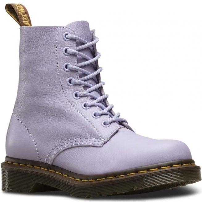 Dr Martens Womens 1460 Pascal Purple Heather Virginia 8-Eye Boots 23415513