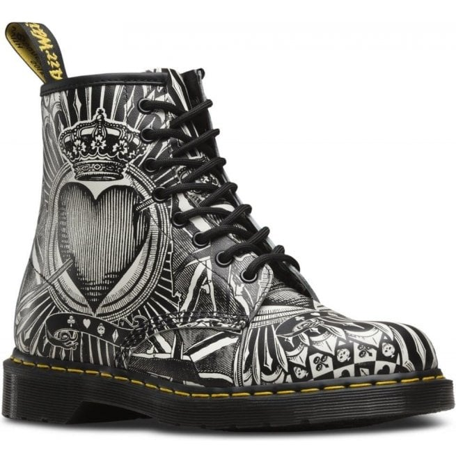 Dr Martens Womens 1460 Pascal Egret Playing Card 8-Eye Boots 23507112