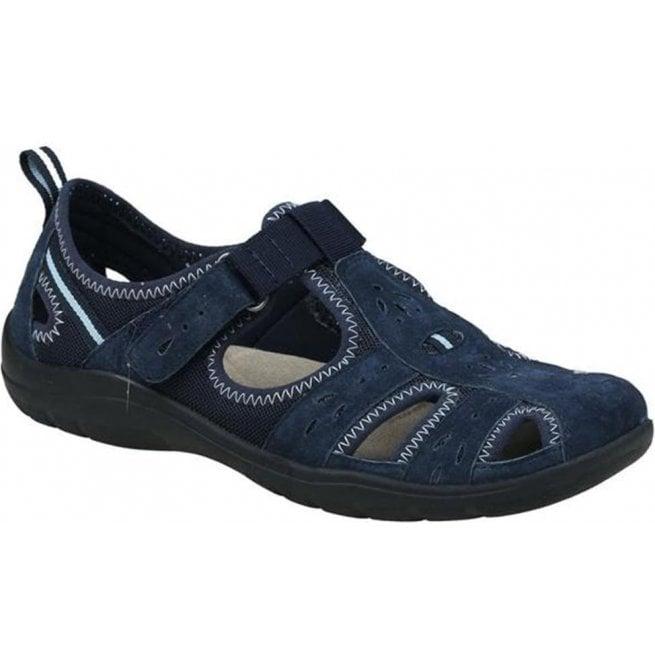 Earth Spirit Womens Cleveland Navy Blue Casual Velcro Open Shoes 28052