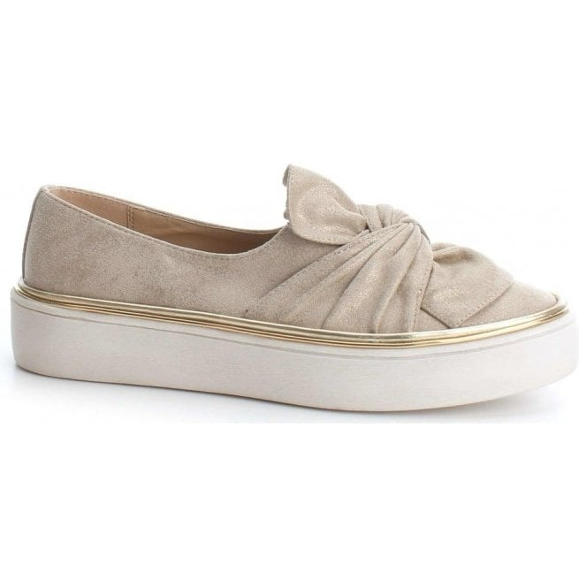 XTI Womens 47829 Beige Slip-On Shoes