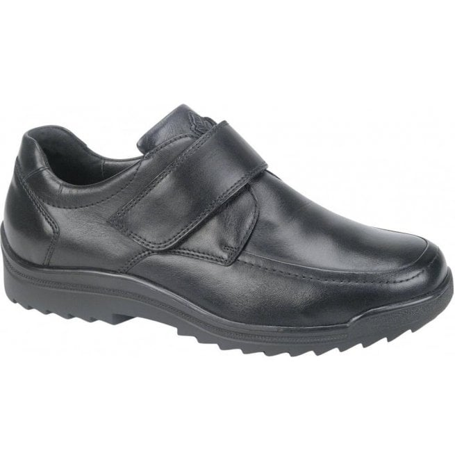 Waldlaufer Mens Palmer Kai Black Velcro Shoes 613300 174 001
